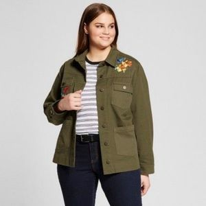 Who What Wear Green Utility Jacket 4X